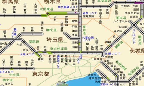 東京外環自動車道 現在の渋滞情報