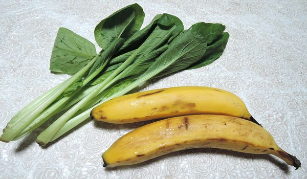 小松菜とバナナ